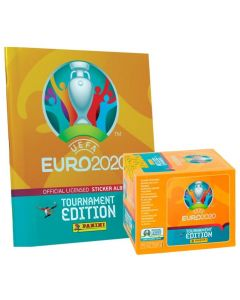 ÁLBUM + CAJITA 50 SOBRES COLECCIÓN DE CROMOS UEFA EURO 2020 Tournament Edition
