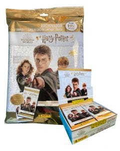 "STARTER PACK + CAJITA 24 SOBRES COLECCIÓN DE TRADING CARDS HARRY POTTER ""Welcome to Hogwarts"""